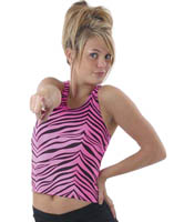 9700AP and 9800AP Pizzazz Animal Print Racer Back Top